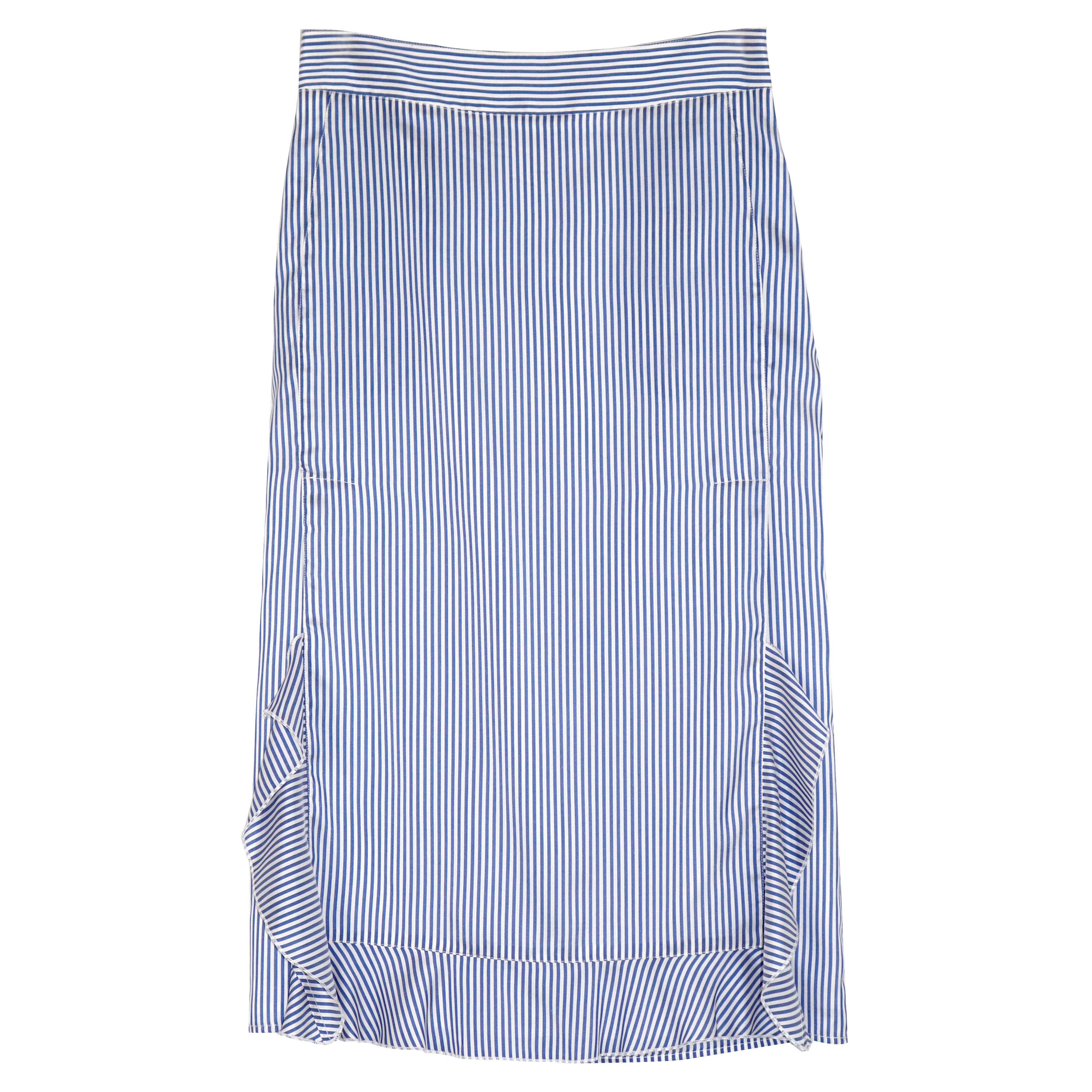 Silk ruffle skirt yes